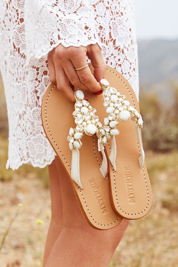 Bridal Sandals for your BIG day. Take the next step in our classic, sexy, and comfortable bridal sandals. Pack them in your suitcase for the perfect honeymoon look. We offer free shipping in the US at shopmystique.com