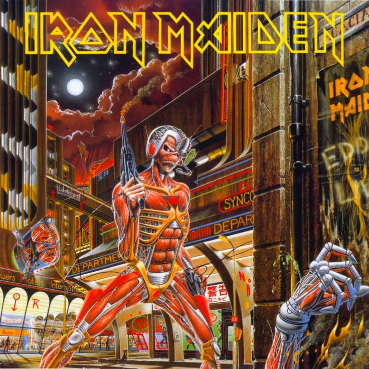 Iron Maiden- Somewhere in Time.  (One of my favorite metal albums ever.)