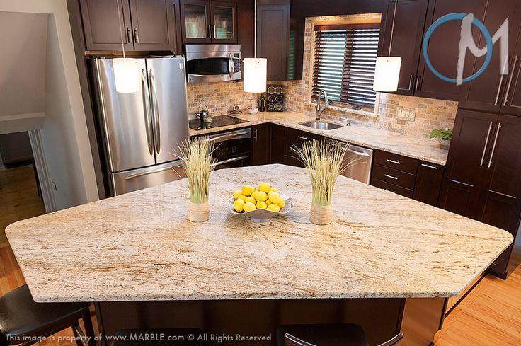 Cielo De Oro Granite In Kitchen Photo Gallery