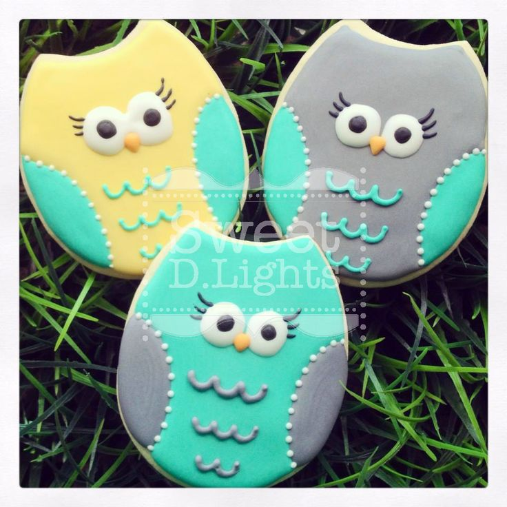 Owl sugar cookies that were used for a baby shower!
