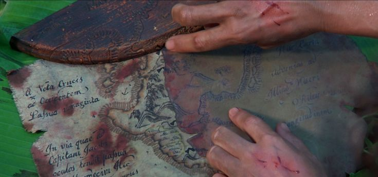 Cutthroat Island treasure map pieces