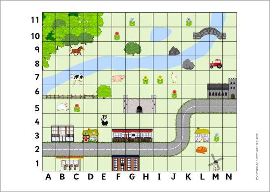 Coordinates map (SB10417) - SparkleBox