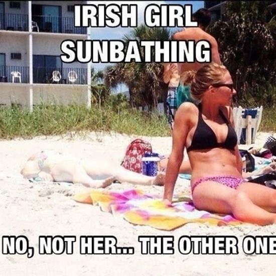 Irish Girl Sunbathing - NoWayGirl