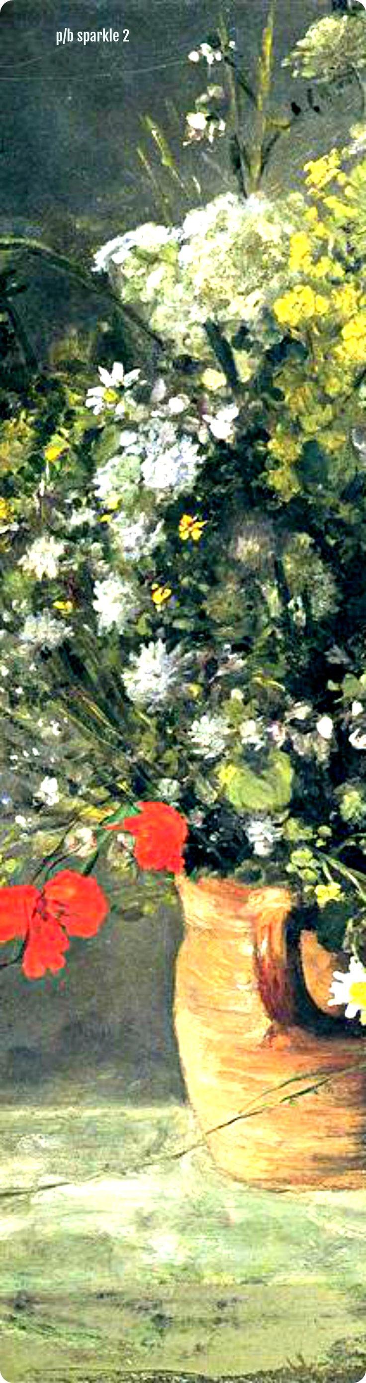 Pierre-Auguste Renoir (1841-1919): Flowers in a Vase, 1866