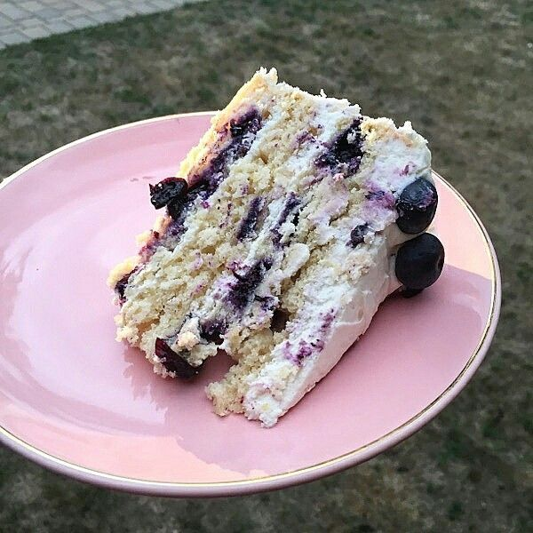 Lemon blueberry cake! Great summer dessert