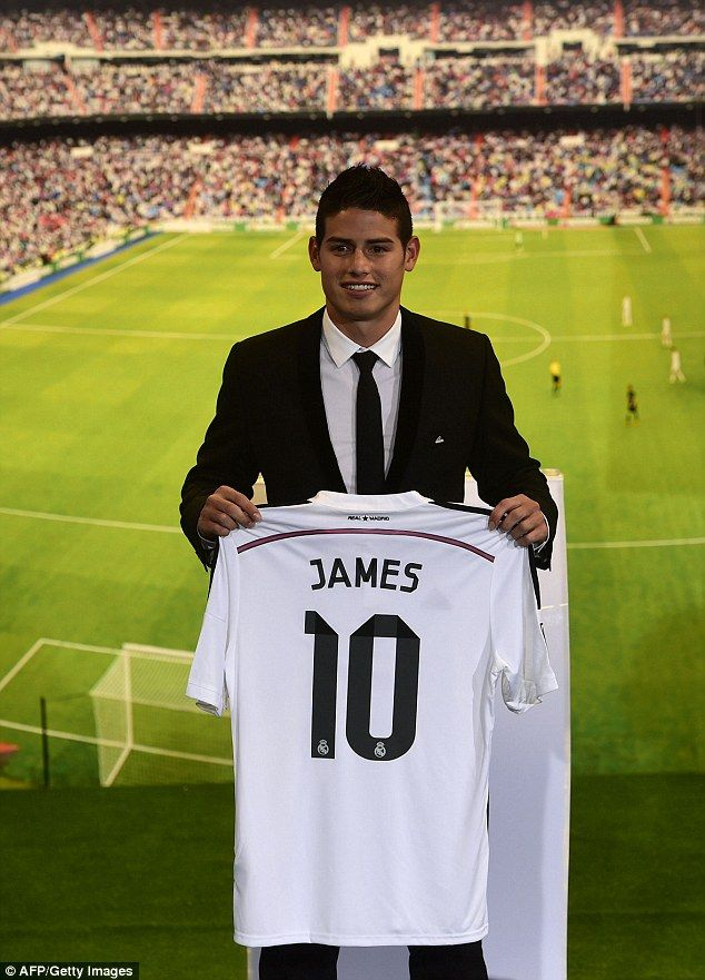 WELCOME TO REAL MADRID, James! <3 Squad number: Rodriguez will wear the '10' jersey at Madrid next season...