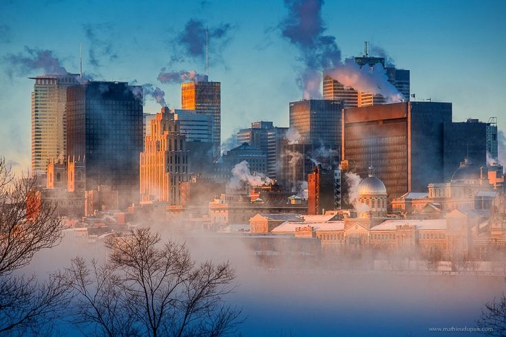 This is a picture of Montreal this morning. It's -36 °C.