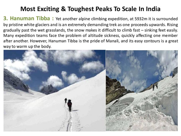Yet another alpine climbing expedition, at 5932m it is surrounded by pristine white glaciers and is an extremely demanding trek as one proceeds upwards.   #365Hops, #Peaks, #India #Trelling #Treks #HanumanTibba