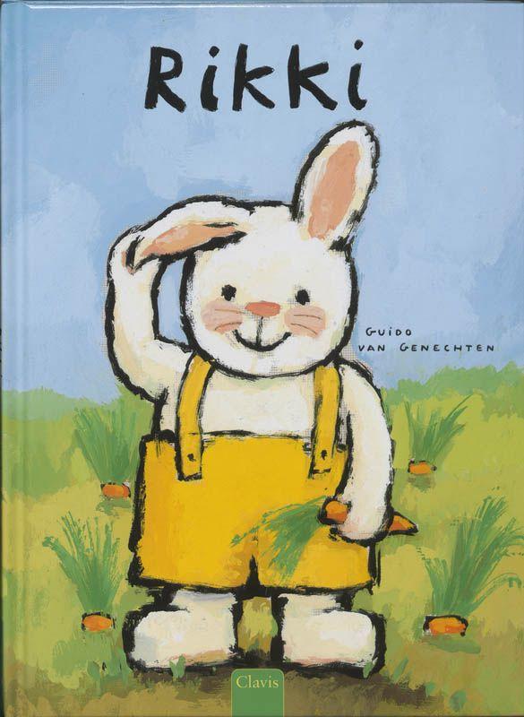 Er bestaan dikke konijnen en dunne konijnen, slimme konijnen en domme konijnen, brave konijnen en stoute konijnen, jongens-konijnen en meisjes-konijnen. En allemaal hebben ze twee lange oren. Rikki ook, alleen ... In 1998 won Guido van Genechten met dit boek de Prijs van de Stad Hasselt, de belangrijkste internationale wedstrijd in Vlaanderen voor illustratoren van kinderboeken. Een ontroerend prentenboek over anders zijn en je eigen plekje vinden.