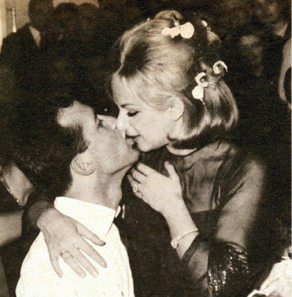 Actors, Aliki Vougiouklaki & Dimitris Papamichael at their wedding party, January 1965