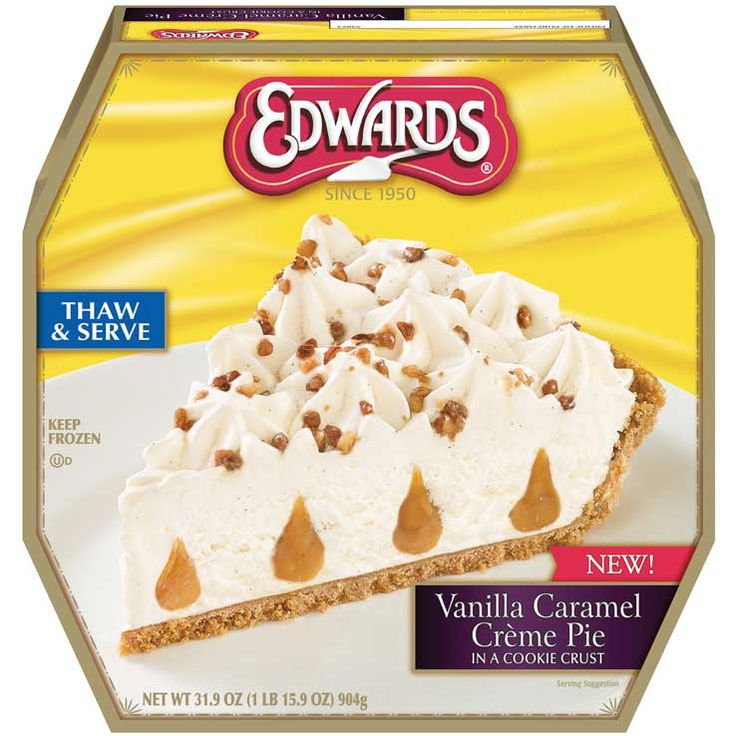 EDWARDS® Vanilla Caramel Crème Pie