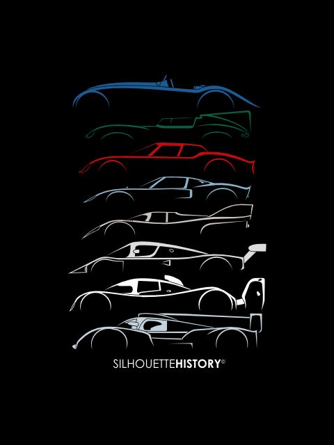 silhouettehistory: 24 Hours Race Car SilhouetteHistory Silhouette of legendary winners of 24 Hours of Le Mans: 1937 Bugatti Type 57G Tank 1955 Jaguar D-Type 1965 Ferrari 250LM 1969 Ford GT40 1971 Porsche 917K 1989 Sauber Mercedes-Benz C9 1992 Peugeot 905 Evo 1B 2011 Audi R18 TDI Home | FB | Instagram | Twitter Throwback Thursday Home | FB | Instagram | Twitter | Shop