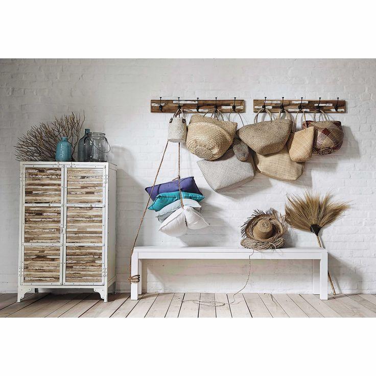 Pat re bois 5 crochets auray maisons du monde decor design pinterest - Patere maison du monde ...