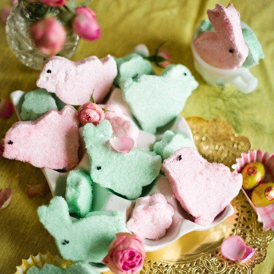 How to Make Marshmallow Peeps at Home. This is the recipe I used today. Only issue was turning mixer to high, everything splashed everywhere!  --MP