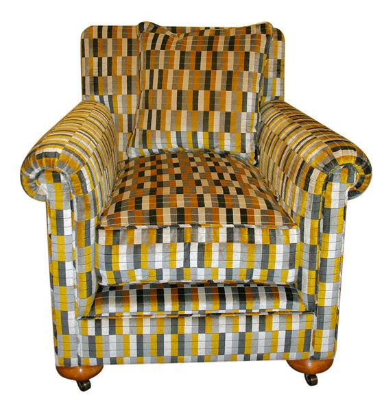 1920 39 s reproduction arm chair upholstered in kirby design for P a furniture kirkby