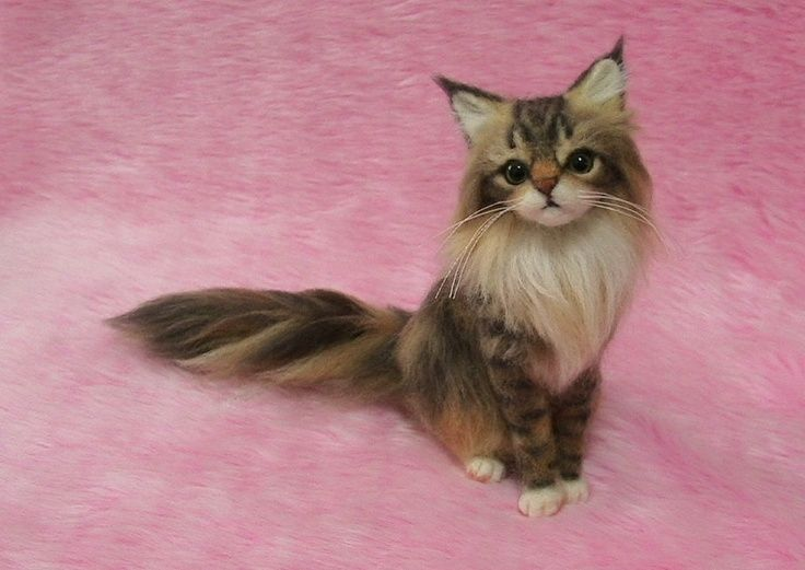needle felted ragdoll cat - Google Search