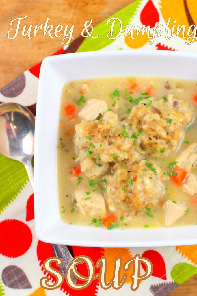 Turkey and Dumpling Soup for #SundaySupper: