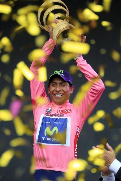 Nairo Quintana 2014 Giro d'Italia winner with Team Movistar