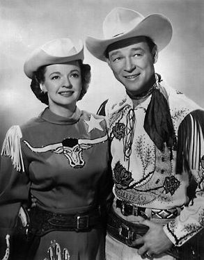 Roy Rogers and Dale Evans - Happy trails to you, until we meet again...........great epitaph.