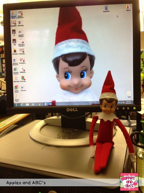 Elf in the classroom ideas…these are classroom ideas, but I still like this screen saver one.  Doing it on the kids iPads!