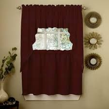 Image result for brown kitchen curtains and valances