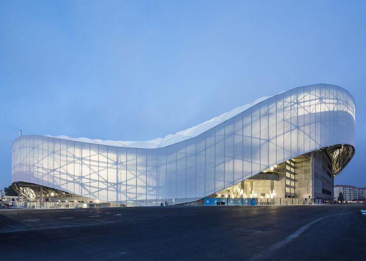 MODERN ARCHITECTURE| SCAU adds undulating roof to Marseille football stadium | bocadolobo.com/ #modernarchitecture #architecture