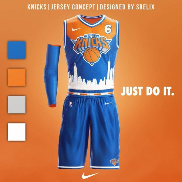 save off 67b55 12e2c New York Knicks Jersey Concept | Basketball Uniforms and ...