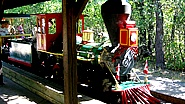Miniature train at the zoo - located on the south side of the main Zoo parking lot. Runs from noon to 6.
