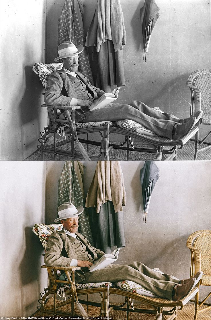 Lord Carnarvon reads on the veranda of Carter's house near the Valley of the Kings.On 19 ...