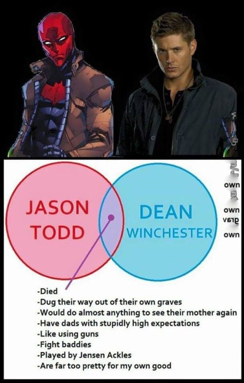 Image result for dean winchester vs jason todd