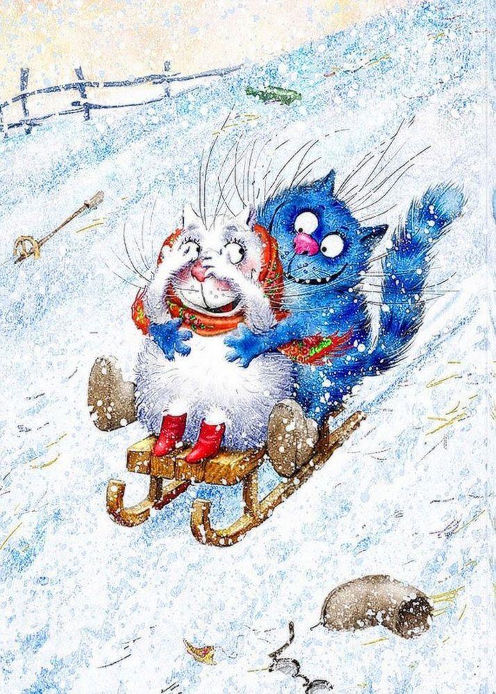 веселые картинки о зиме т морозе героя