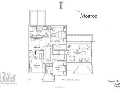 The monroe floor plans 3 pillar homes floor plans for House plans monroe la
