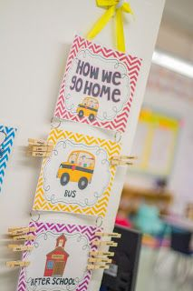 Mrs. Ricca's Kindergarten: Back to School. Dismissal chart and other freebies!
