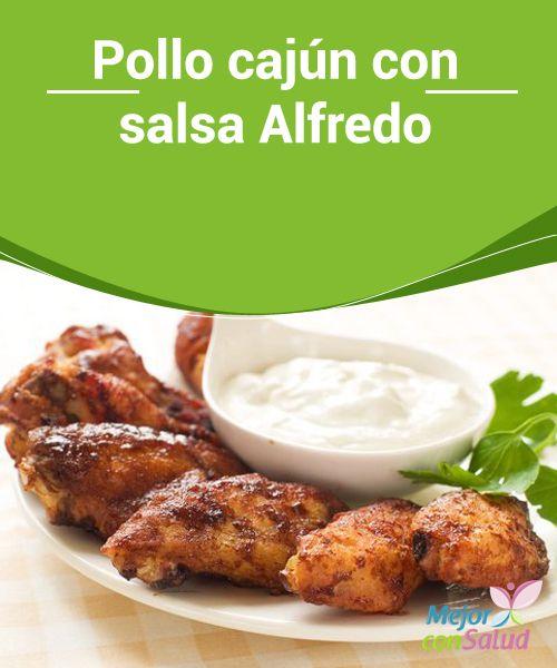 Pollo cajún con salsa Alfredo   El sabor característico del pollo cajún se debe a la combinación de especias que lo hacen un plato muy sabroso y aromático. ¡Te enseñamos la receta!