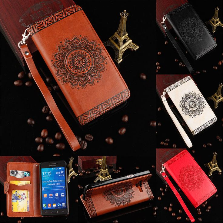Luxury Flip Leather Wallet Card  Strap Case Cover For Samsung Galaxy Grand Prime #UnbrandedGeneric