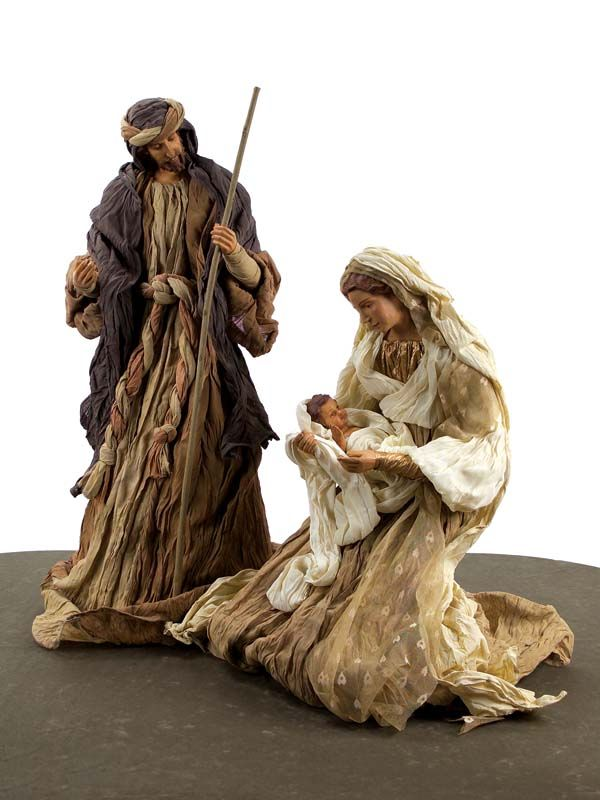 2 Piece Neutral Warmth Holy Family Christmas Nativity