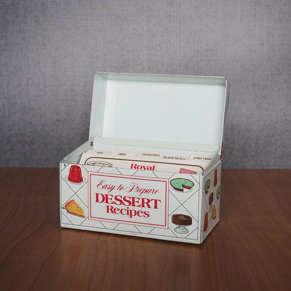 Vintage Metal Recipe Box / Nabisco Brands by FireflyVintageHome