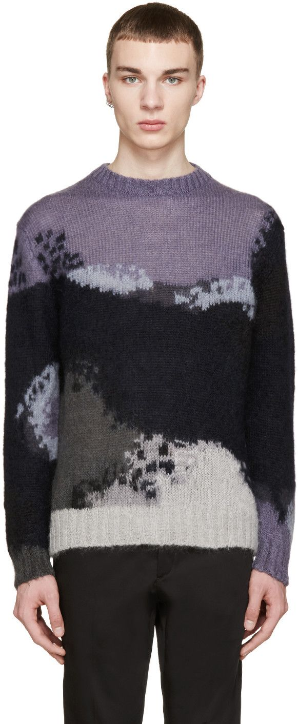 PS by Paul Smith Multicolor Mohair Sweater