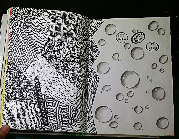 """Anti Journal """"Build a pattern from patterns"""" """"Try to draw perfect circles by hand"""" #Anti Journal #ArtJournal"""