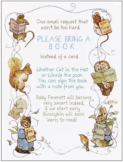 Book request for a gift for a Peter Rabbit party