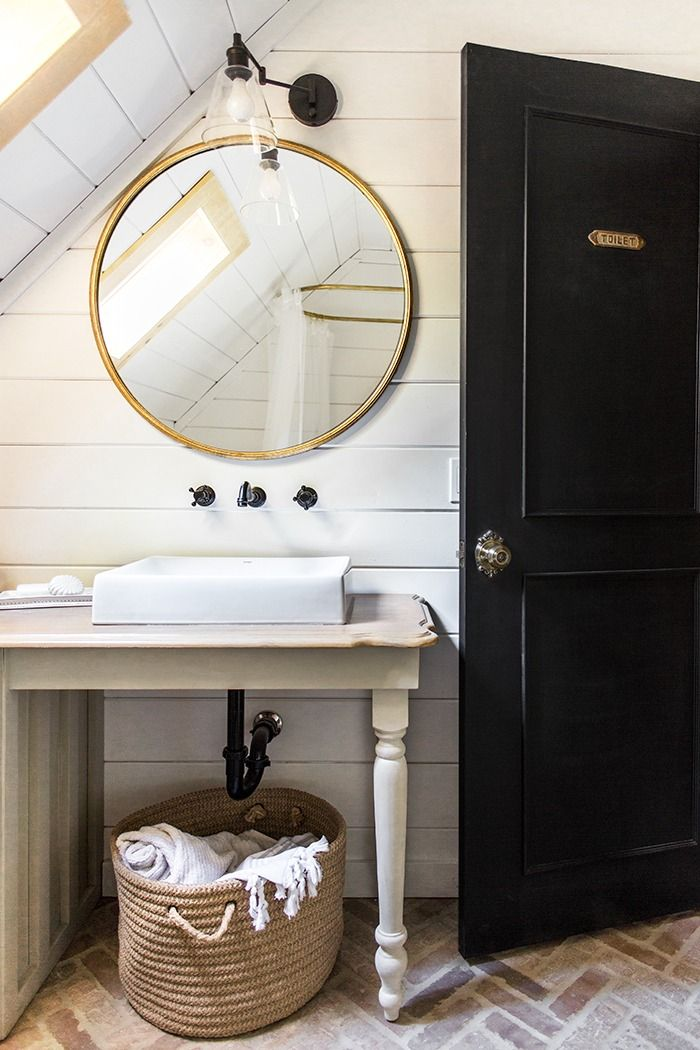 Click To Find Out All The Details Of This Charming Cottage Bathroom Reno  From Jenna Sue