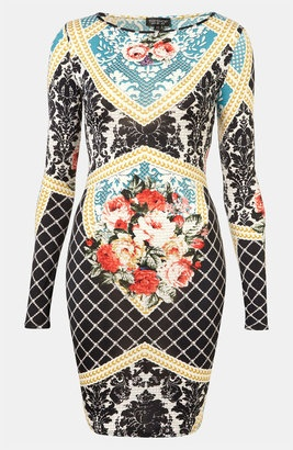 ***: Topshop Baroque Print Bodycon Dress