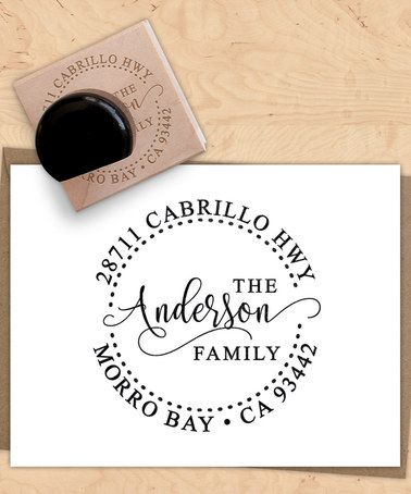 Look at this #zulilyfind! Fancy Circle Personalized Return Address Stamp #zulilyfinds