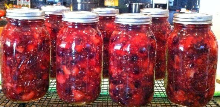 Razzleberry Pie Filling - (strawberries, raspberries, blackberries, and blueberries)