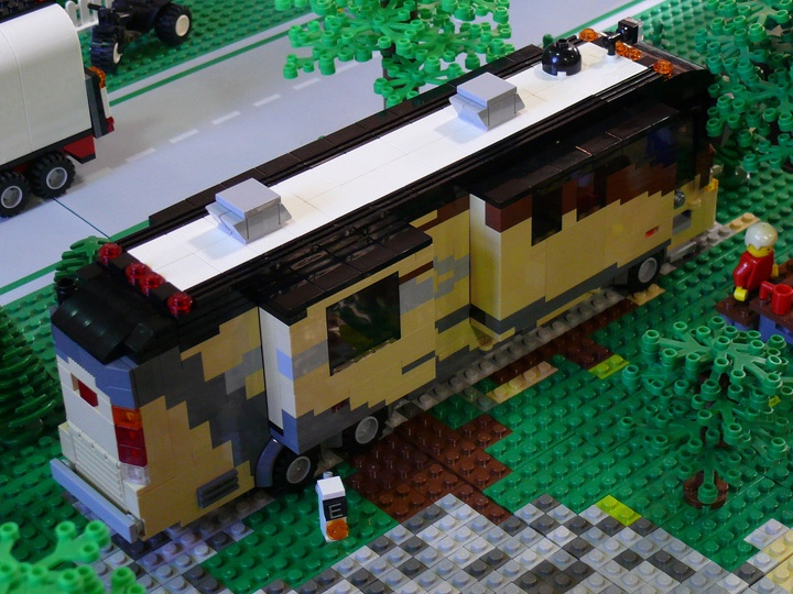 Lego Build Truck And White Camper