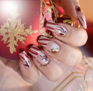 NAIL ART NOEL SUGAR RIBBONS 9