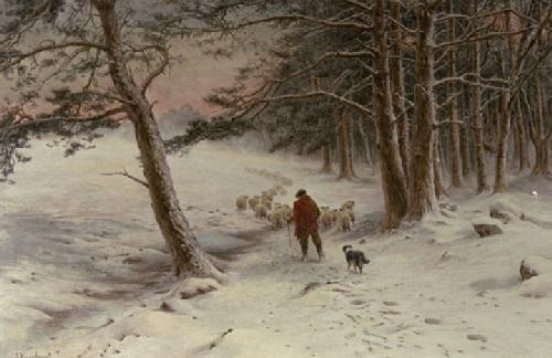 Farquharson, Joseph Art, Canvas Prints - To Winter Quarters (Restrike Etching) - Easyart.com