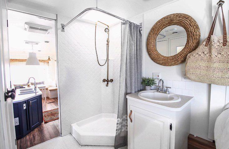 80 Jaw Dropping Rv Bathroom Renovations The Motorized Home In 2020 Toilet Remodel Rv Bathroom Bathroom Renovations