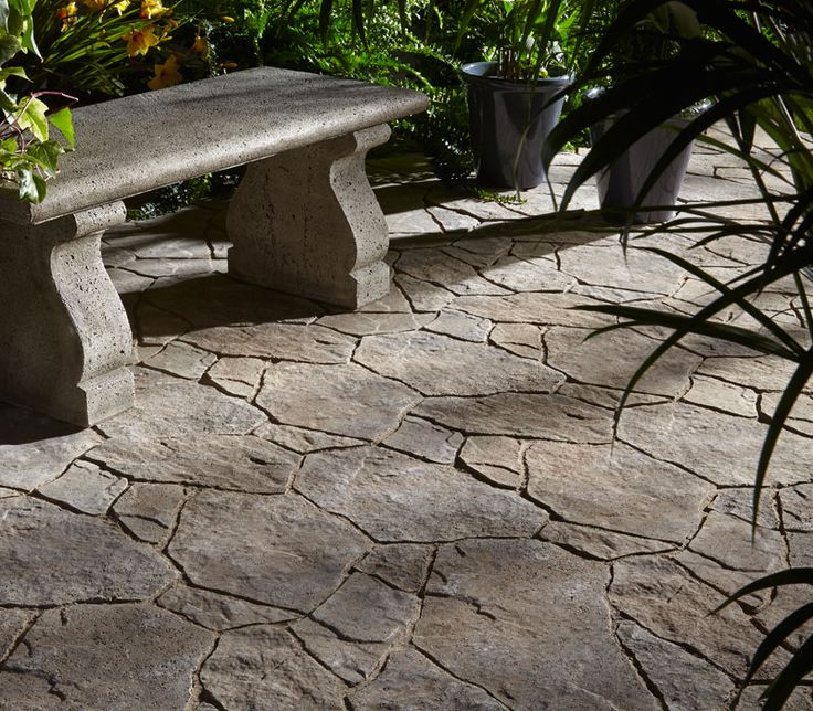 Do you like the look of random natural flagstone but are hesitant because of the complicated installation? Rosebel slabs from Permacon are the perfect alternative for you. This concrete product is designed to simulate a natural flagstone without the hassle of a complicated installation. This product also has a 50 year manufacturers warranty including a guarantee against salt damage. Stop by your local Bergman's store today and ask about Rosebel Slabs.