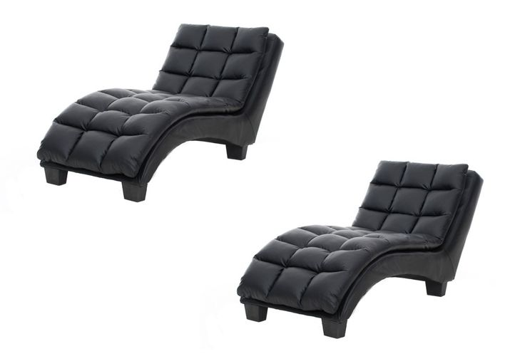 Jasmin Leather-Look Chaise Chair Pair | Super A-Mart